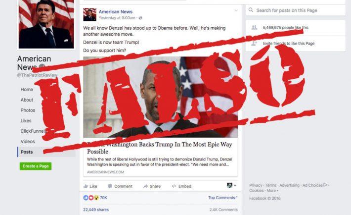 Noticias falsas Facebook Redes sociales cibercriminales