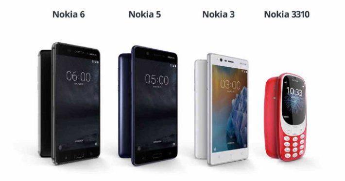 Nokia 3, Nokia 5,Nokia 6