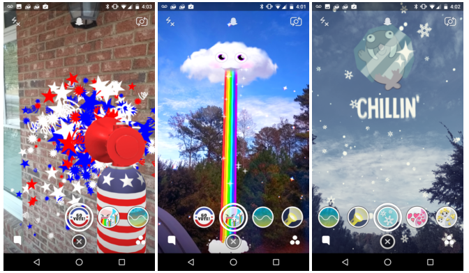 Snapchat, World Lenses