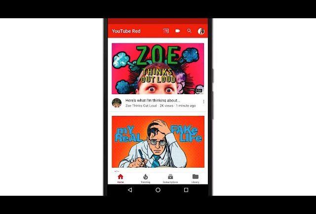 La App de Youtube cambia de diseño