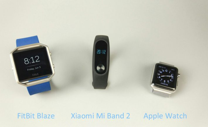 Fitbit Xiaomi y Apple